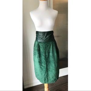 Vintage Danier leather pencil skirt